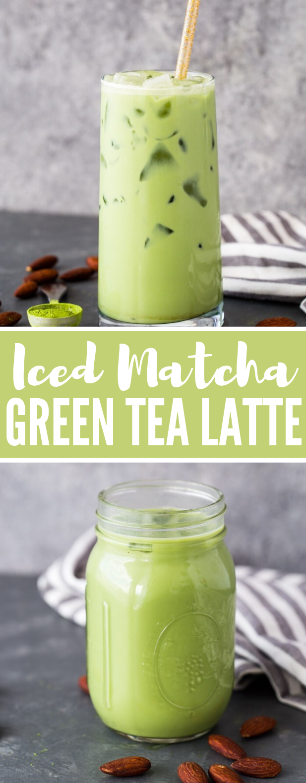 Iced Matcha Green Tea Latte #drinks #homemade #matcha #tea #milk