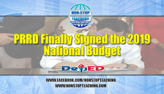 PRRD Finally Signed the 2019 National Budget