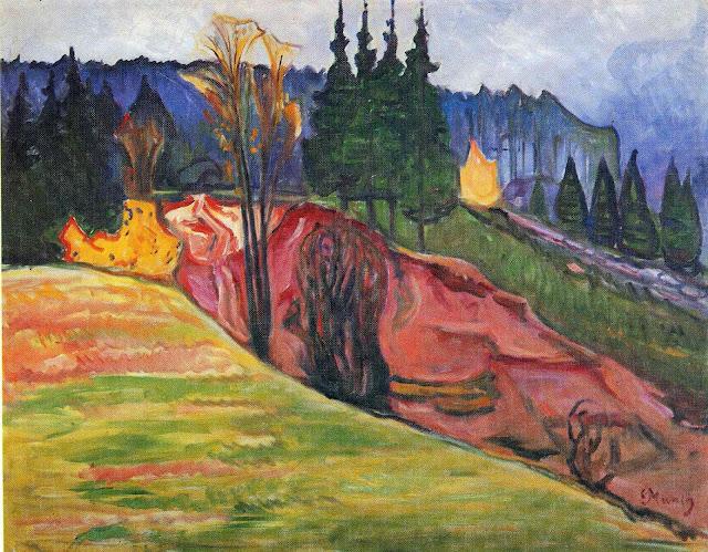 Эдвард Мунк - Тюрингенский Лес. 1905
