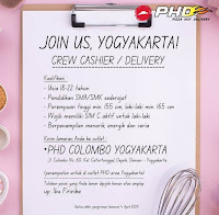 Lowongan Crew Cashier / Delivery Pizza Hut Delivery (PHD) Yogyakarta
