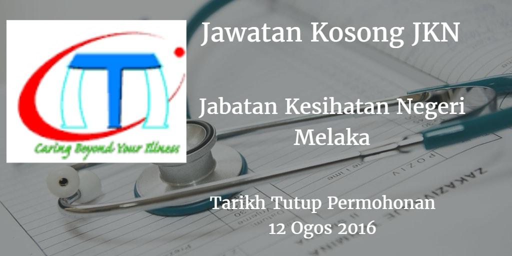Jawatan Kosong JKN Melaka 12 Ogos 2016
