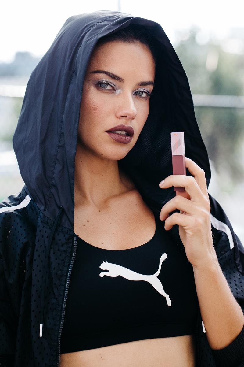 Supermodel Adriana Lima stars in PUMA x Maybelline campaign