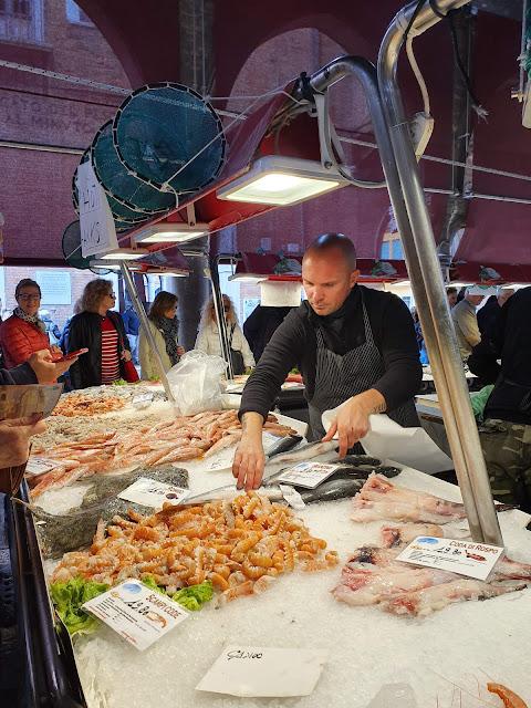 Fishmonger, Rialto Market, Venice