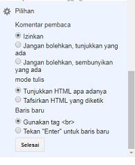 13. Pilihan - 40 Post Editor Blogger
