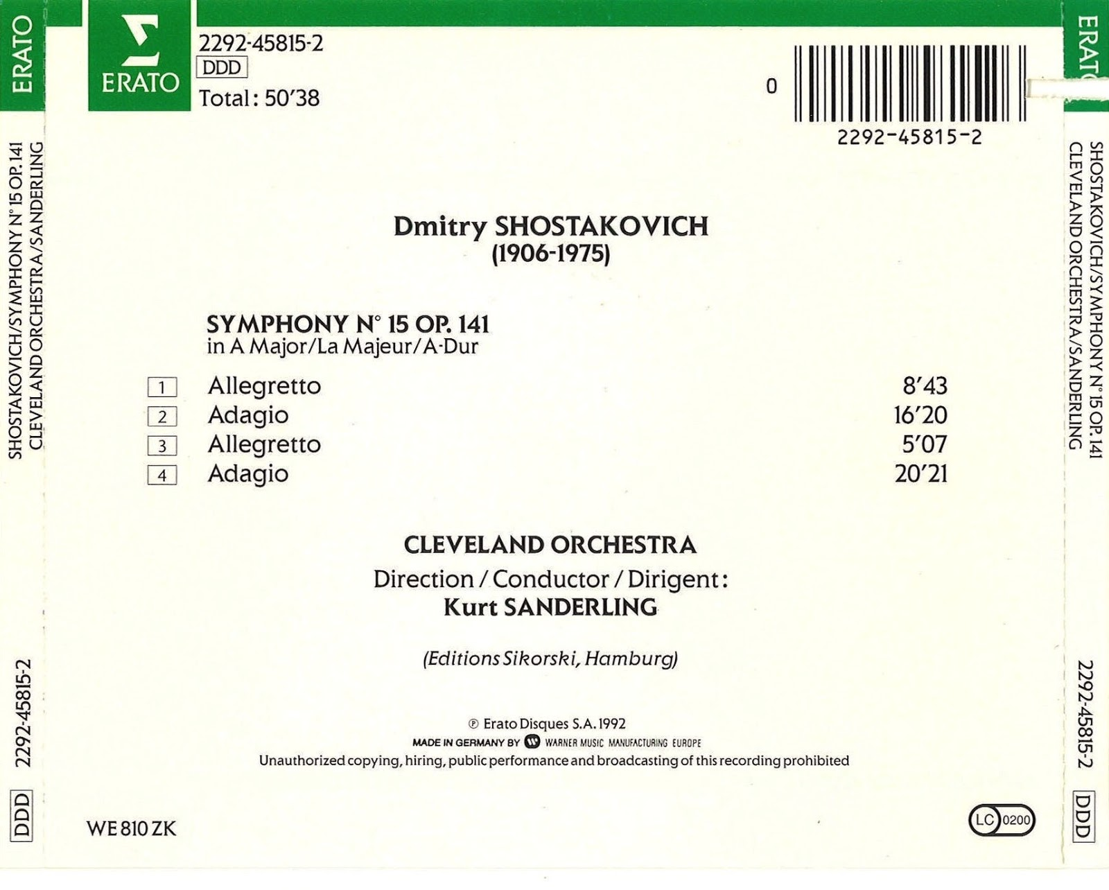 Magical Journey: Dmitri Shostakovich - Symphony No  15 (Kurt