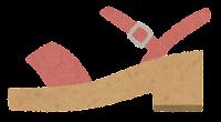 横から見た靴のイラスト(女性用サンダル)
