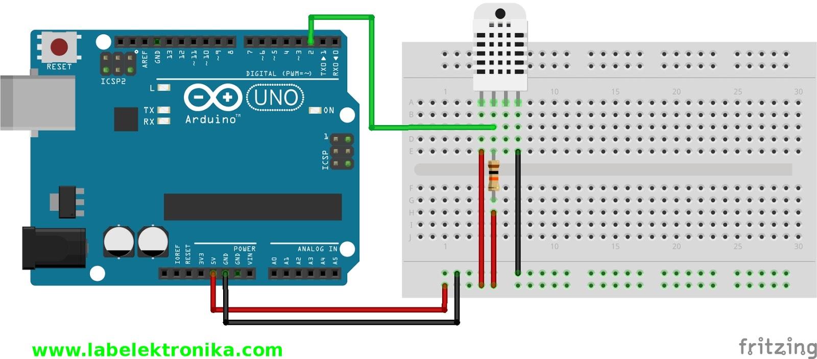 Dht22 Sensor Suhu Dan Kelembapan Menggunakan Arduino