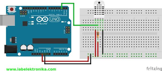 DHT22 Menggunakan Arduino