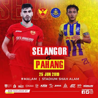 Live Selangor vs Pahang (Liga Super) 24.6.2019