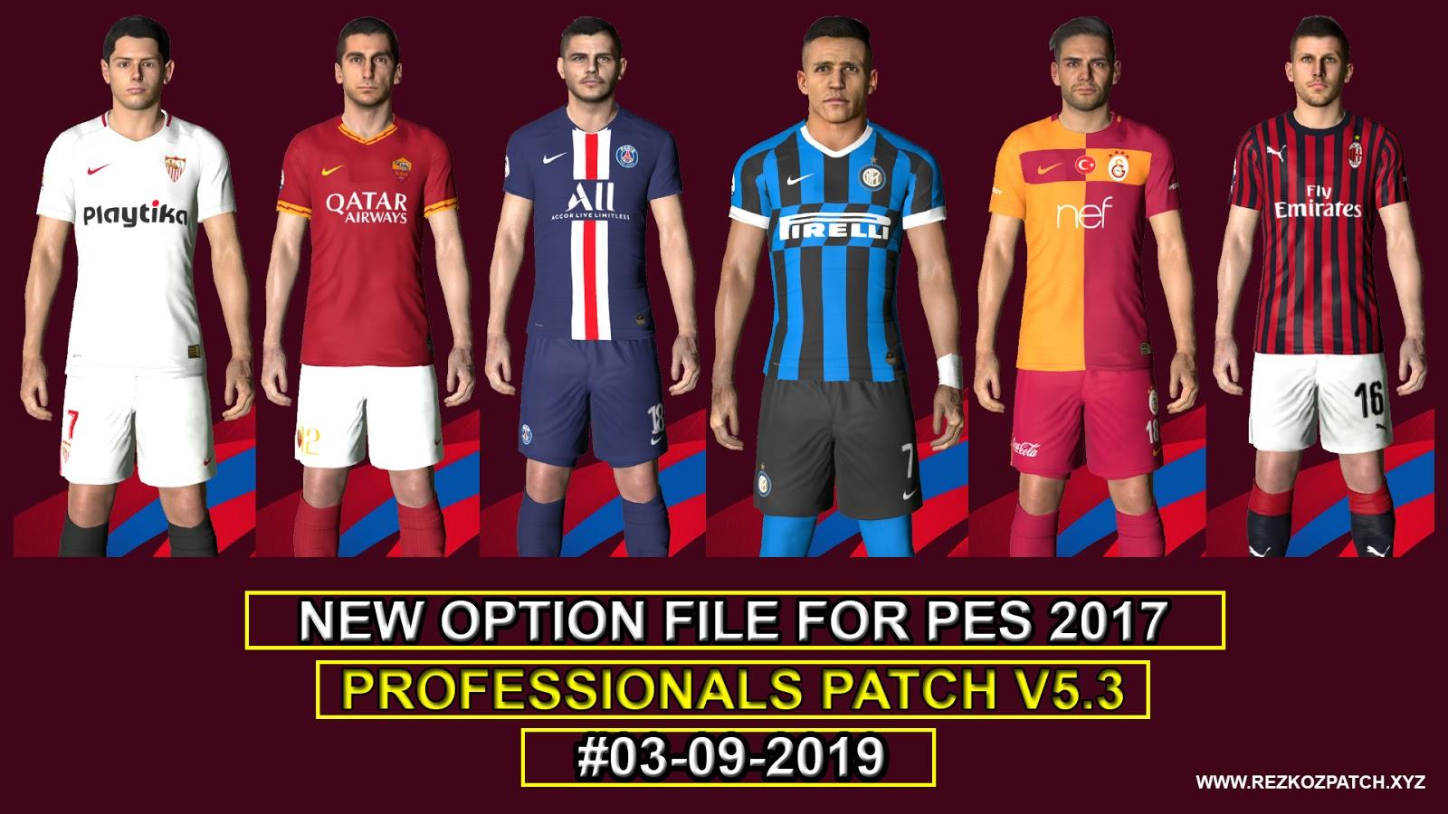 PES 2017 Option File For PES Professionals Patch V5 3 #03-09