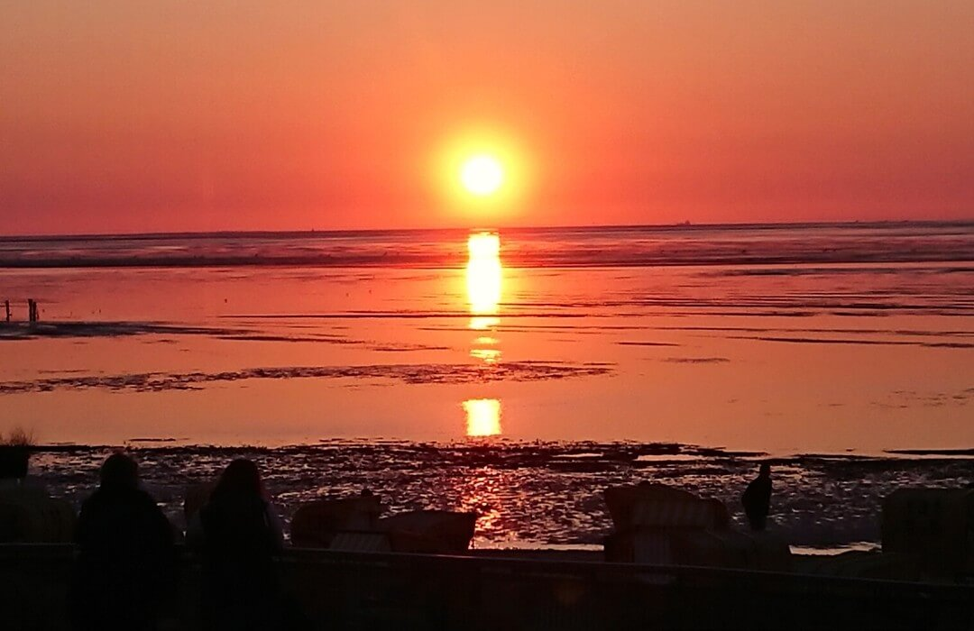 Sonnenuntergang-Nordsee