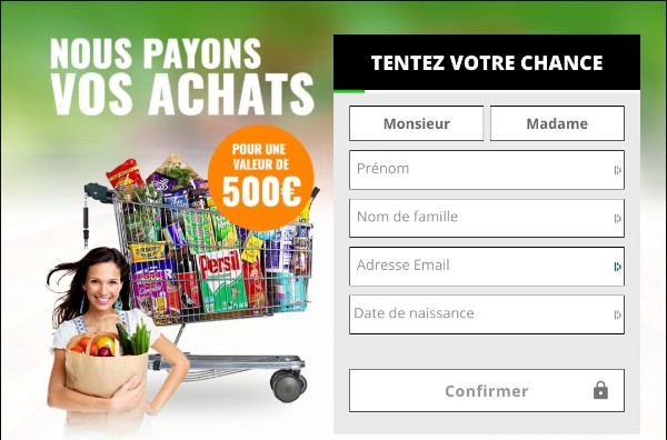 Get free  a 500 grocery gift card For France