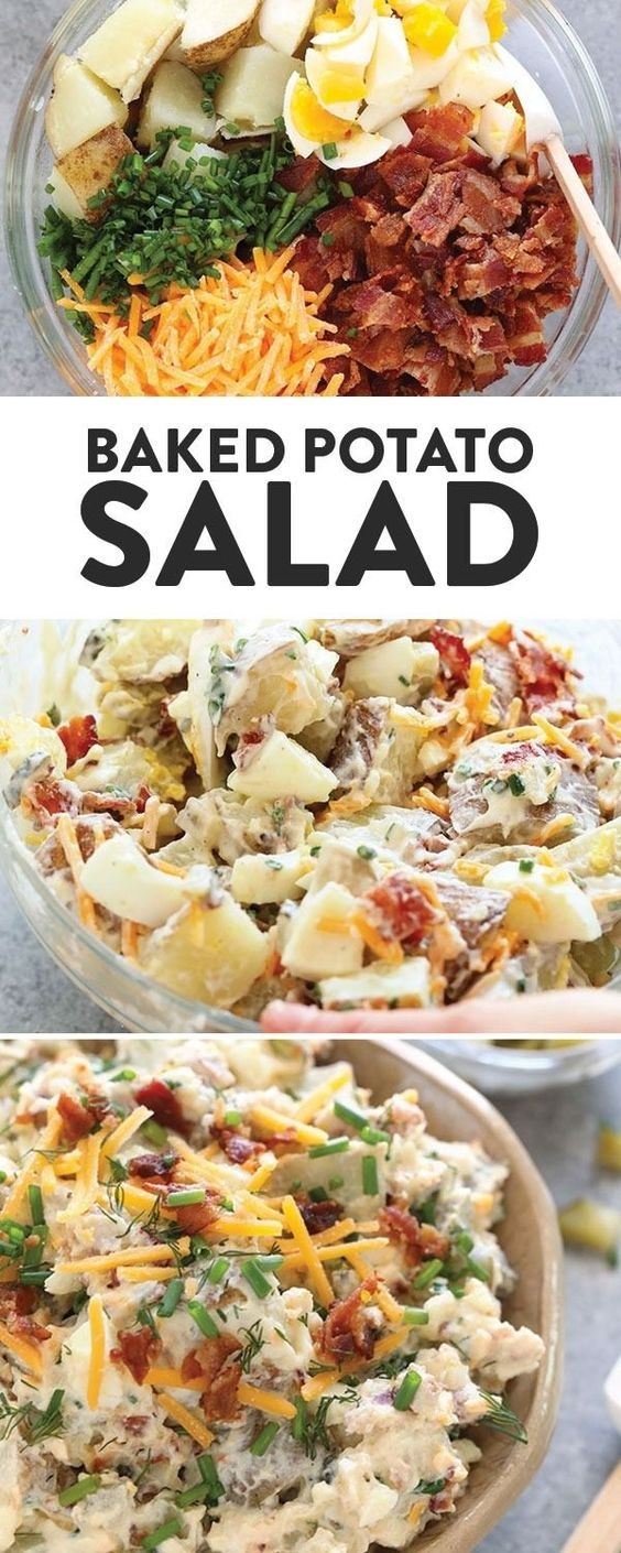 Healthy Baked Potato Salad
