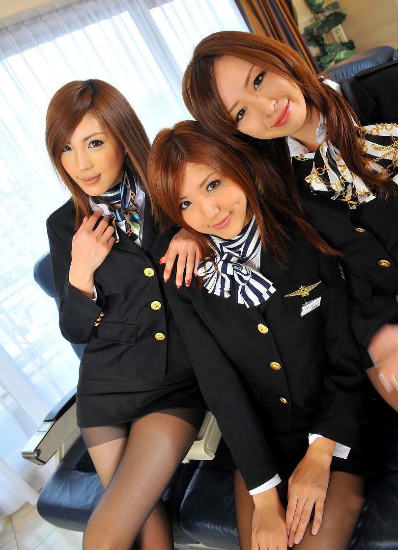 Sexy Japanese Cabin Attendants Costume  World Stewardess -4641