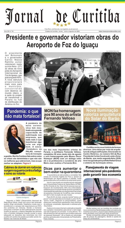 Jornal De Curitiba Junho A Agosto