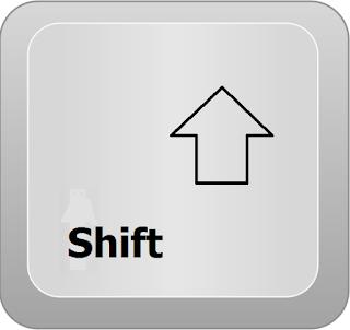 si no sabes cual es la tecla shift para sacar el arroba esta tecla esta al lado izquierdo de nuestro teclado y debajo de la tecla mayúscula la identificas porque tiene una flecha hacia arriba en ocasiones esta sola pero otras veces dice shift
