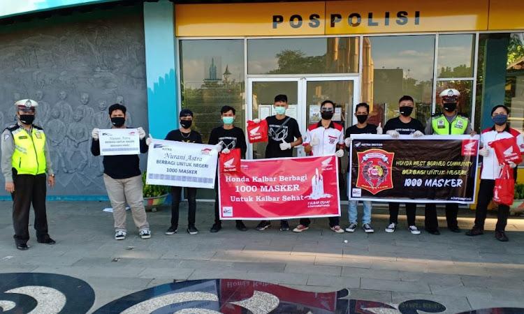 Honda Kalbar dan HWBC Bagikan 1000 Masker Ke Masyarakat untuk Cegah Corona