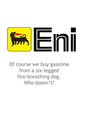 the Eni six-legged fire-breathing dog