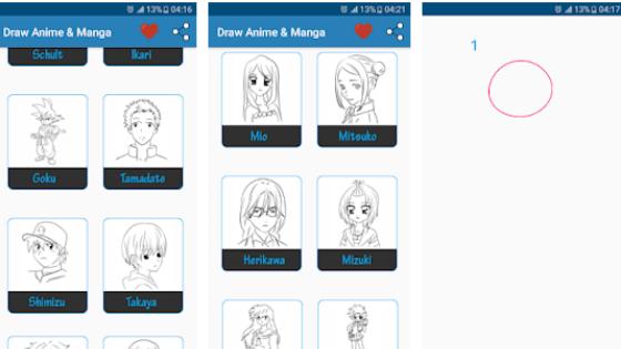 Aplikasi Draw Anime & Manga