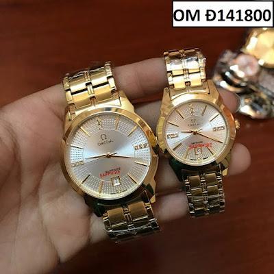 Đồng hồ cặp đôi màu vàng Omega OM Đ141800