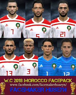 PES 2017 Facepack Morocco World Cup 2018 by Facemaker Huseyn