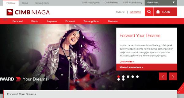 halaman website bank cimb niaga