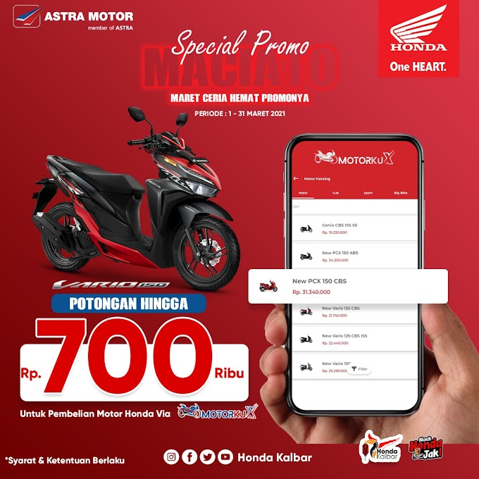 Aplikasi Motorku X Luncurkan Diskon Bagi Konsumen Honda Vario 150 All type