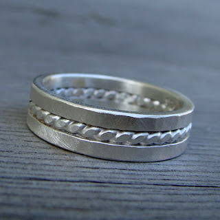 recycled silver band