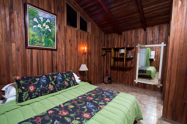 Cama del Cloud Forest Lodge
