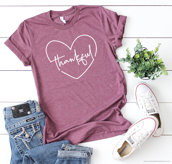 Thankful Shirt with Free Cut Files