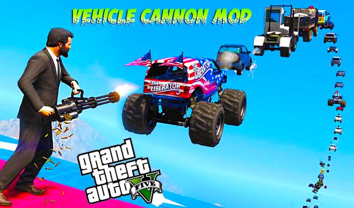 GTA V Vehicle Cannon Mod  Download | Shooting Cars | GTA 5 Mods