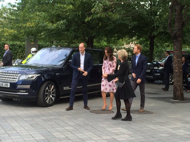 Kate and Harry arrive at County Hall in London for an event marking World Mental Health Day