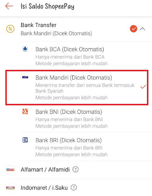 Nomor Virtual Account Shopeepay Mandiri