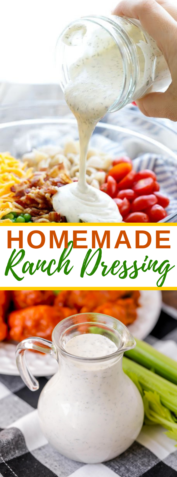 HOMEMADE RANCH DRESSING #veggies #appetizers
