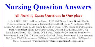 Nursing Question Answers