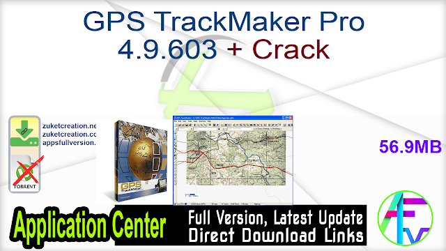 GPS TrackMaker Pro 4.9.603 + Crack