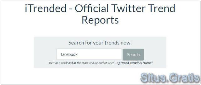 iTrended merilis laporan resmi tentang tren Twitter. Ini menyediakan peta panas yang dapat diperbesar yang menunjukkan di mana tren terjadi
