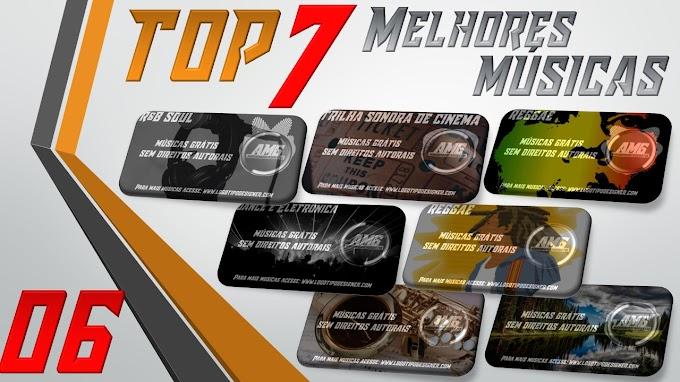 As 7 Melhores Músicas #06 Grátis free use Logo Tipo Designer