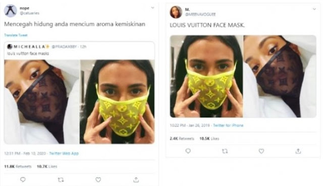 Viral Louis Vuitton Mask Prevents Coronavirus?