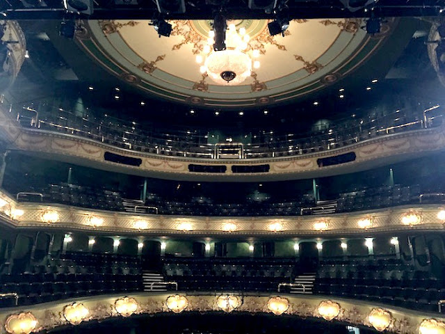 Family Activities in Nottingham | Morgan's Milieu: Inside Nottingham Theatre Royal, the view from on stage.