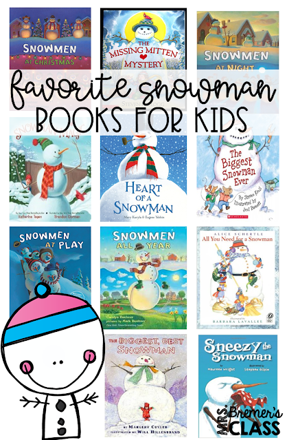 A big list of favorite SNOWMAN themed books for kids! Book study winter companion activities and craftivities to go with each book. Packed with fun ideas and guided reading literacy activities Common Core aligned K-2