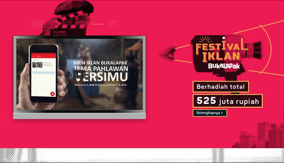 Festival Iklan Bukalapak Berhadiah Total 525 Juta