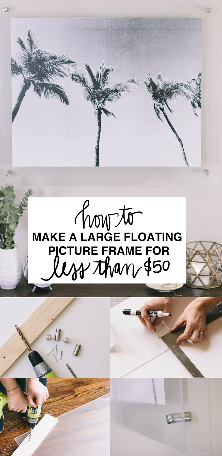 always rooney: How To Make a Large Floating Picture Frame Under $50