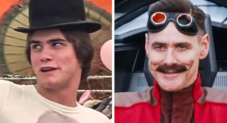 Jim Carrey: Um Debilóide sem Máscara (1983) — Sonic, O Filme (2019)