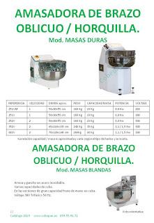 Amasadoras Horquillas , Amasadoras Brazo Oblicuo