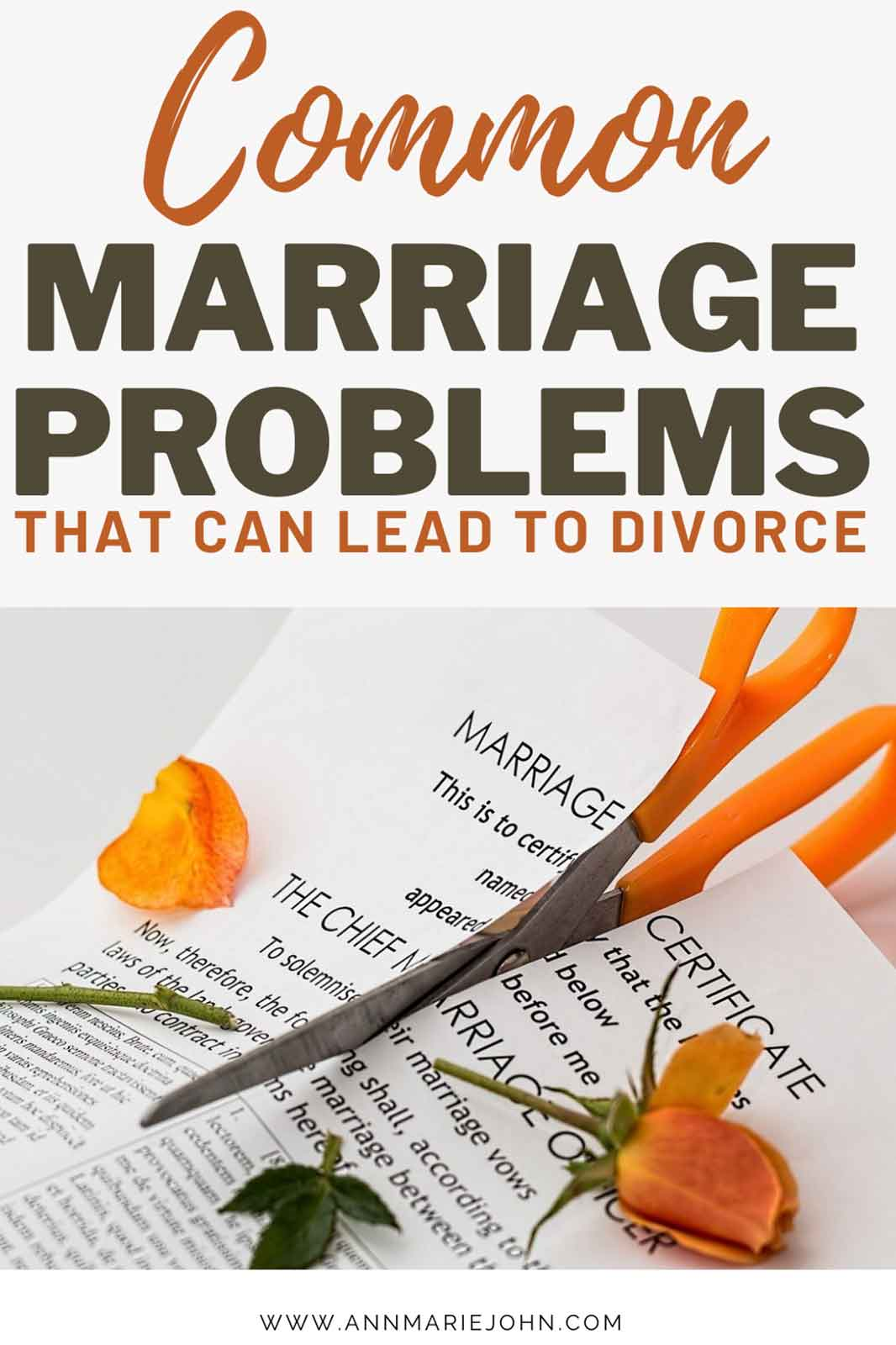 Common Marriage Problems That Can Lead to Divorce