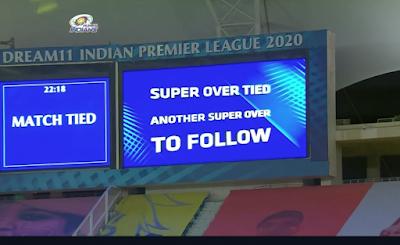 IPL 2020: MI VS KXIP , SUPEROVER ,