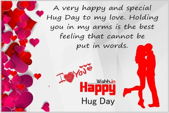 Romantic hug message