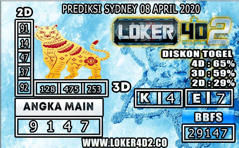 PREDIKSI TOGEL SYDNEY LOKER4D2 08 APRIL 2020