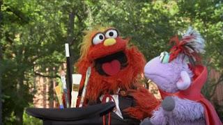 Magic Murray and Ovejita present the number of the day 4, Sesame Street Episode 4415 Rosita's Abuela season 44
